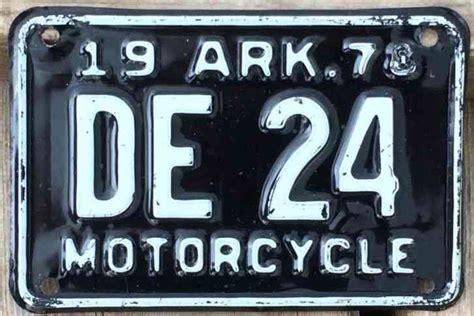 Arkansas 1978 Motorcycle License Plate