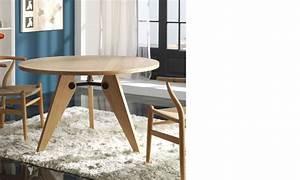 Table à Manger Contemporaine : table ronde salle a manger contemporaine couleur bois kieros ~ Teatrodelosmanantiales.com Idées de Décoration