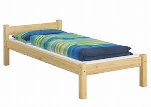 Bett Holz 90x200 : einzelbett kiefer natur 90x200 massivholz bettgestell ohne rollrost jugendbett or ~ Markanthonyermac.com Haus und Dekorationen