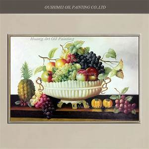 New Hand Painted Classical Oil Painting Wall Decor Fruit ...