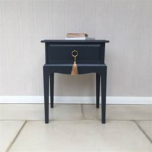 Handsome, Hand, Painted, Farrow, And, Ball, Off, Black, Vintage, Stag, Minstrel, Bedside, Table, Bedside
