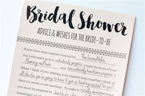 Bridal Shower Advice Cards Template Printable Bridal Shower Advice Cards Free