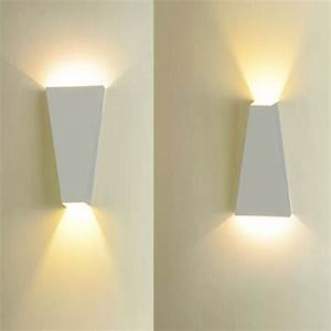 Decoration Led Interieur : u applique lampe murale led luminaire d cor int rieur blanc chaud blanc achat vente u ~ Nature-et-papiers.com Idées de Décoration