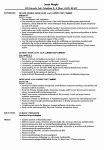 Document Management Specialist Resume Samples