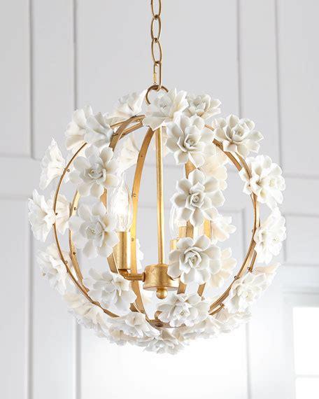 neiman marcus ceramic flower pendant light