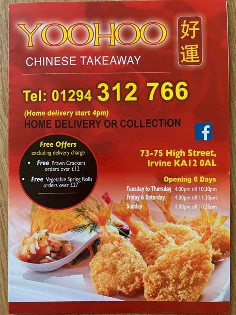 yoohoo chinese takeaway home irvine north ayrshire