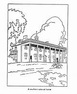Plantation Coloring Pages Early American Southern Printables Culture Homes Usa Template America Plantations Sketch sketch template