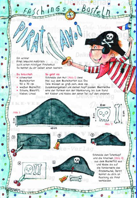 basteln karneval piratenhut basteln raetsel deike