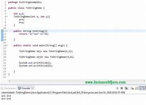 tostring method in java with example program With java string template