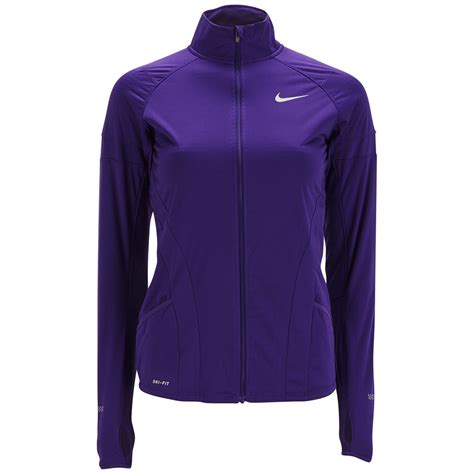 nike womens element shield full zip running jacket court purple sports leisure thehutcom