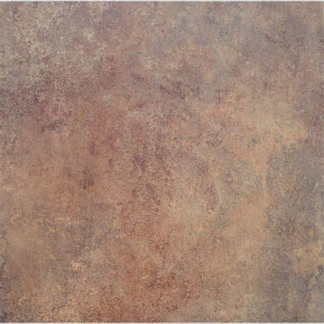 shop stainmaster 18 in x 18 in rust stone finish peel and
