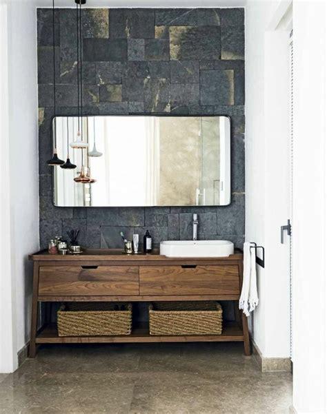 Waschtisch Mit Holz by Waschtisch Aus Holz Und Andere Rustikale Badezimmer Ideen