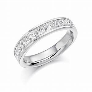 18ct white gold 15ct princess cut diamonds vintage With white gold diamond cut wedding ring