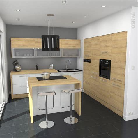 et decoration cuisine cuisine tendance bois modèle hosta chêne naturel cuisine