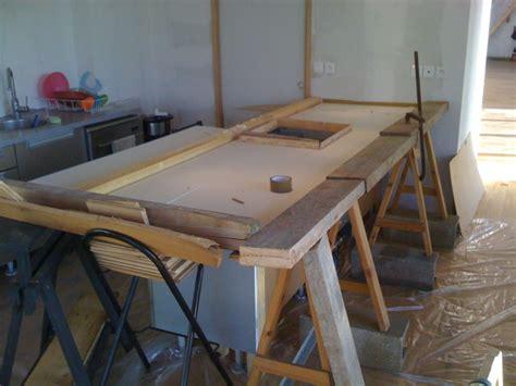 comment faire un plan de travail en beton plan de travail cuisine le de gaut