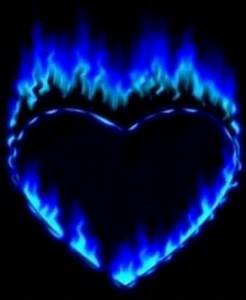 Blue heart | All things cool & different | Pinterest