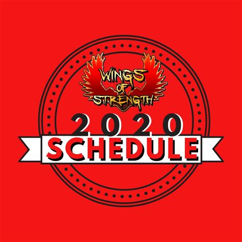 Wings of Strength - Official Event Schedule for 2019