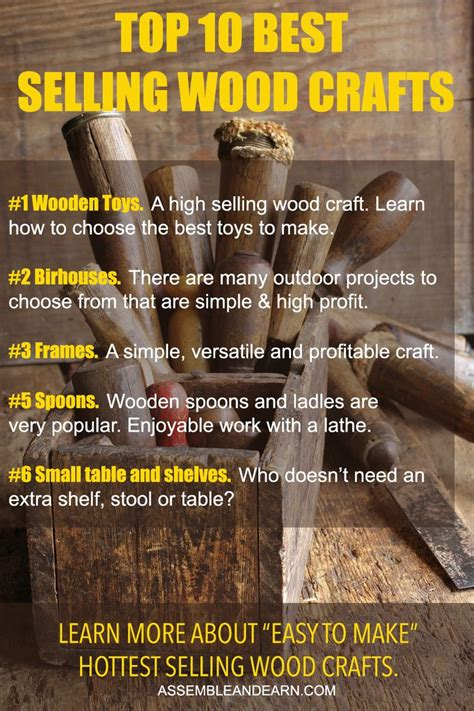 top 10 best selling wood crafts to make and sell make