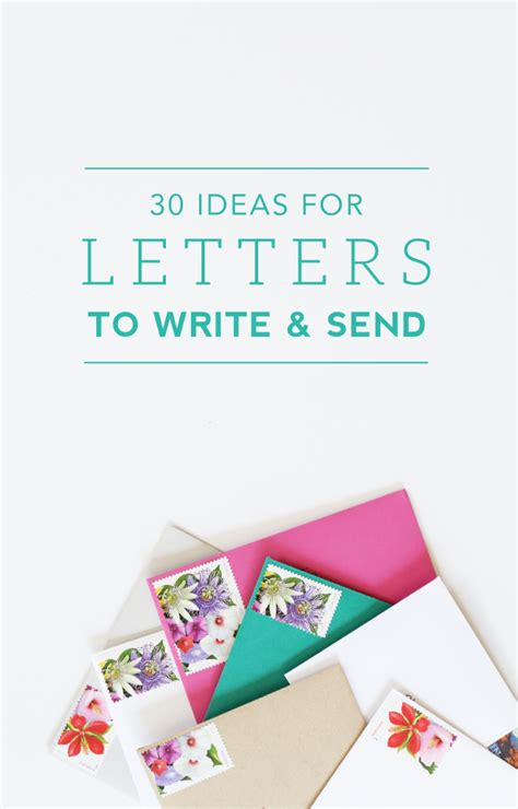 ideas  letters  write  send creative