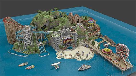 minecraft maps awesome island city