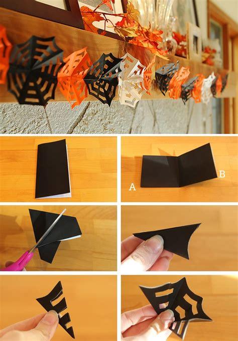 Diy Halloween Decor How To Make Origami Spiderweb Garlands
