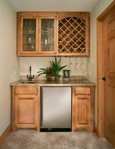 walk up bar cabinets wetbar with wine rack and undercounter refrigerator