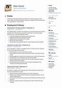 Restaurant Server Objective Full Guide Restaurant Server Resume 12 Pdf Examples 2019
