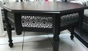 Table De Salon Moderne : les tables en moucharabieh pour salon marocain d cor salon marocain ~ Preciouscoupons.com Idées de Décoration