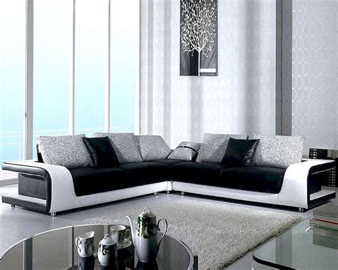 tone modern leather sectional sofa set lb