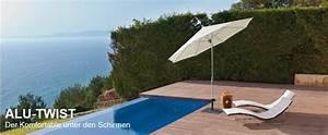 glatz sonnenschirm alu twist gunstig im preis online kaufen With französischer balkon mit glatz sonnenschirm alu twist