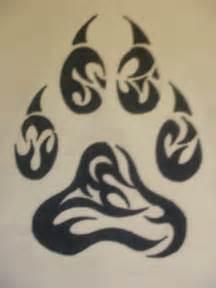 Tribal Wolf Paw Tattoo Designs