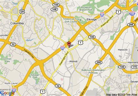map  comfort suites columbia gateway elkridge