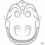 Dinosaur Mask Coloring Pages Dinosaurs Printable Template Masks Templates Supercoloring Printables Dino Craft Crafts Paper Activities Drawing Maskesi Dinazor Dot sketch template