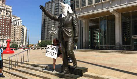 black lives matter activists put kkk hood  frank rizzo
