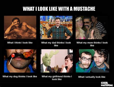 Black Guy Mustache Meme - what i look like with a mustache cool material