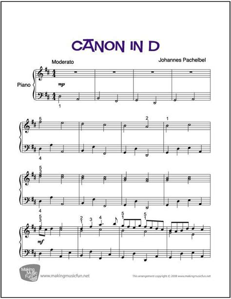 Students working on this piece may have trouble with the slurs in the fast section, starting at 1:31. Canon in D | Easy/Intermediate Piano Sheet Music (Digital Print) - http://makingmusicfun.net/htm ...