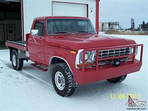 1978 Ford F250 4x4 Xlt Ranger  Red  4wd  Regular Cab