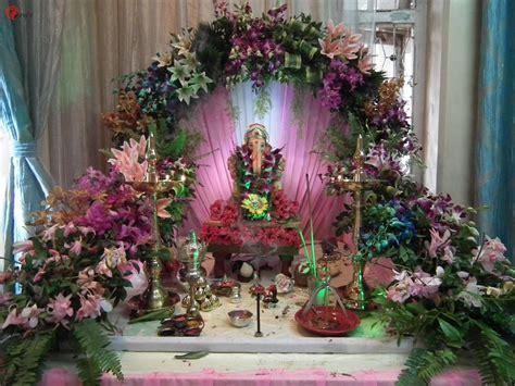 ganesh chaturthi decoration  flowers  decorative