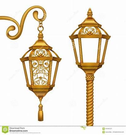 Christmas Lanterns Gold Illustration Clip Elements Golden