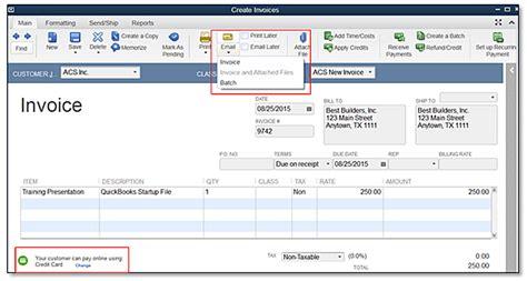 quickbooks  feature minute improved  invoicing