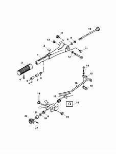Mariner 30 Hp  2 Cylinder   International  Tiller Handle Parts