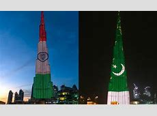 Burj Khalifa lights up with Pakistan flag for 77th