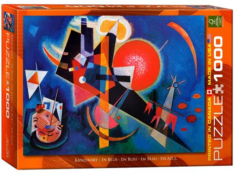 cadre puzzle 1000 pieces kandinsky in blue 1000 puzzle from eurographics
