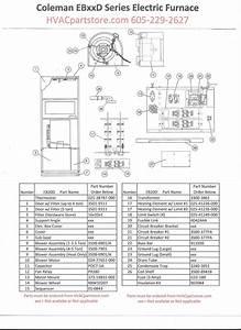 Eb20d Coleman Electric Furnace Parts  U2013 Hvacpartstore