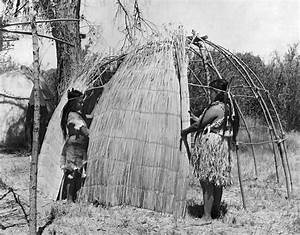 Building A Yokut House Photograph by Underwood Archives Onia