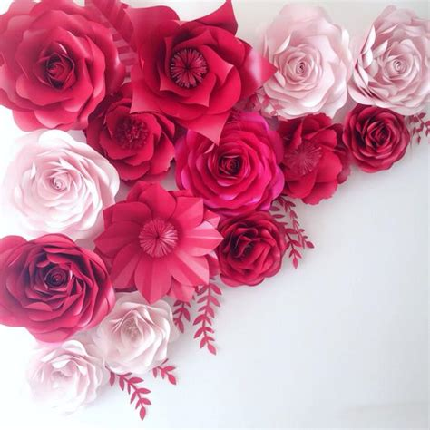 large paper flowers wedding decoration ideas