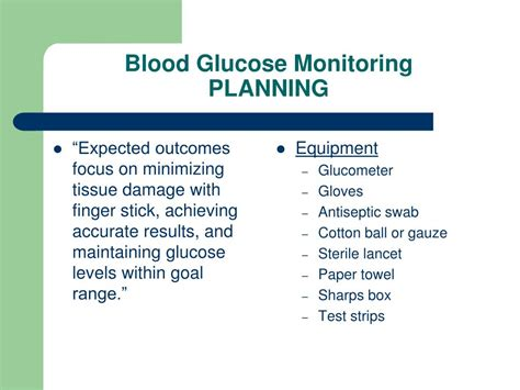 blood glucose monitoring powerpoint