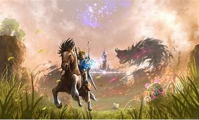 Breath Zelda Wild Legend Link Background Wallpapers
