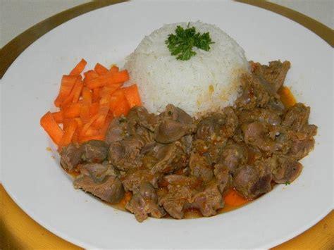 des recette de cuisine recette de cuisine mijoté de gesiers de volaille