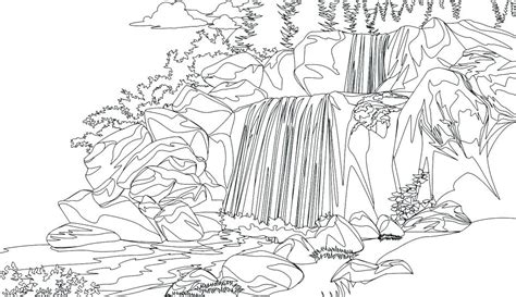waterfall coloring pages  coloring pages  kids